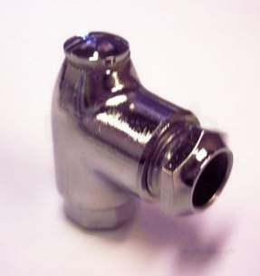 Gas Fire Fittings and Gas Cocks -  12mm Chrome Plated 1 Inch Restrictor Elbow 194g