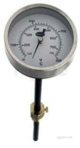 Brannan Thermometers -  Brannan 83mm Flue Gas Therm 33/593/0
