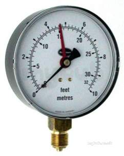 Brannan Thermometers -  Brannan 100mm Alt Gauge 0/10m And Ft 34/601