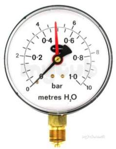 Brannan Thermometers -  Brannan 100mm P/gauge 1bar/10m 34/661