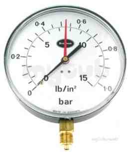 Brannan Thermometers -  Brannan 150mm P/gauge 0/10bar And Psi 34/955