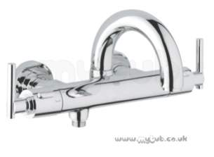 Grohe Tec Brassware -  Grohe Atrio Wall Mtd Therm Basth Shower Mixer 34062000