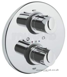 Grohe Shower Valves -  Grohe G1000 34161 Therm Shower Valve Conc Cp