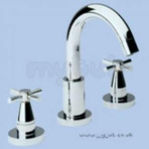 Twyfords Contemporary Brassware -  Rival Rl5326 3th Basin Filler Chrome Plated Rl5326cp