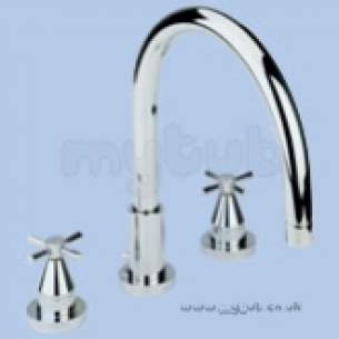 Twyfords Contemporary Brassware -  Rival Rl5355 3th Bath Filler Cp Rl5355cp