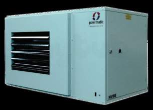 Powrmatic Oil and Gas Fired Air Heaters -  Powrmatic Nv40f Gas Unit Heater 40kw Green