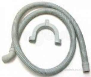 Invicta Hoses Domestic Appliances -  Invicta Hose Drain 1.5 Meter 90 Elbow Wall Mounted