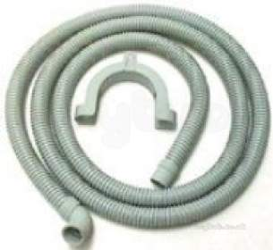 Invicta Hoses Domestic Appliances -  Invicta Hose Drain 2.5 Meter 90 Elbow Wall Mounted
