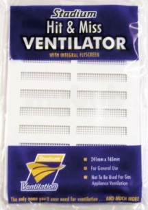 Passive Ventilation Grilles -  Stadium 9 Inch X3 Inch Plastc Hit And Miss Vent Bm473