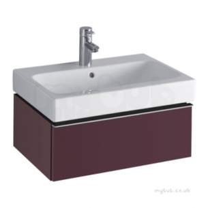 Twyford Galerie Plan Furniture -  3d 595 Vanity Unit 1 Drawer Plum 840261