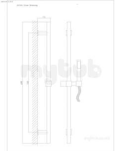 Eastbrook Showers -  Eastbrook 4.5040 Kubix Slider Rail Kit Ch