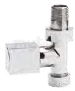 Eastbrook Brassware -  Square Angled Radiator Valves Ch