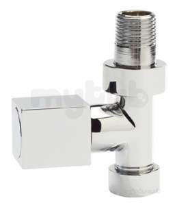 Eastbrook Sundries -  4.5385 Square Straight Radiator Valves Ch