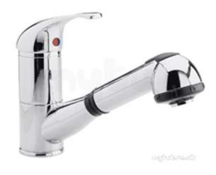 Eastbrook Brassware -  Mono Sink Mixer And Pull Out Rinser Ch