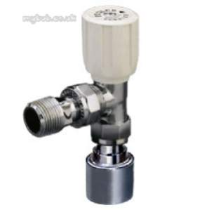Terrier and Belmont Radiator Valves -  Terrier 367 15mm X 1/2 Inch P/f Str Ang Wh Cp