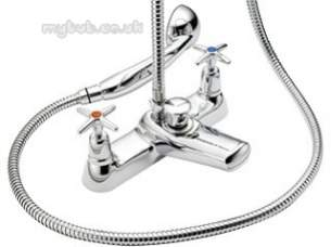 Pegler Mercia Brassware -  Mercia X-top Bath/shower Mixer C/w Kit