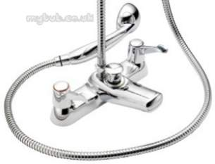 Pegler Mercia Brassware -  Mercia Qt Bath/shower Mixer C/w Kit