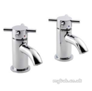 Pegler Luxury Bathroom Brassware -  Pegler Xia 4k8005 1/2 Inch Basin Taps