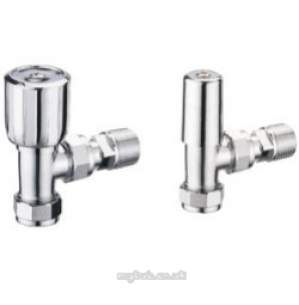 Pegler TRVs -  Terrier 1/2 Inch X15mm Angle Wh And Ls Pack Cp