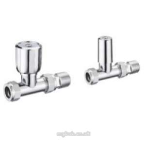 Pegler TRVs -  Terrier 1/2 Inch X10mm Straight Wh And Ls Pk Cp