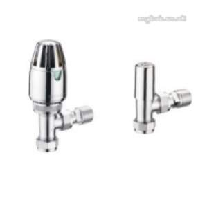Pegler TRVs -  Terrier 1/2 Inch X10mm Angle Trv And Ls Pack Cp