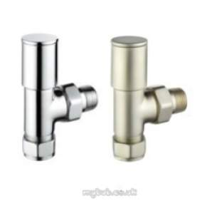 Pegler TRVs -  Pegler Modern Wh And Ls 15mm Angle Sn