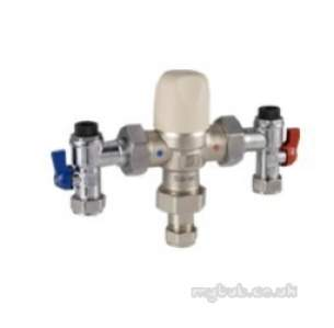 Pegler Thermostatic Mixing Valves -  15mm 404ua In Line Thermo Controller