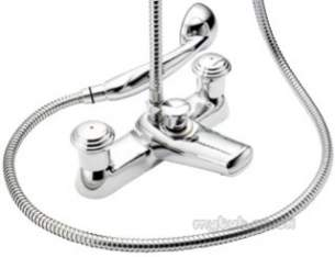 Pegler Mercia Brassware -  Mercia Design Bath/shower Mixer C/w Kit