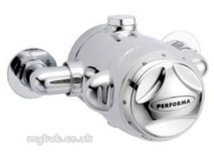 Pegler Commercial and Specialist Brassware -  Exposed 888 Thermo Dual Control Shower