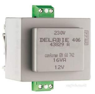 Delabie Accessories and Miscellaneous -  Delabie Transformer 230/12v Without Box Suitable For Din Rail