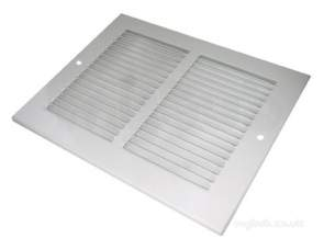 Passive Ventilation Grilles -  Airflow Mvo806 8 Inch X6 Inch P/steel Grille Wht