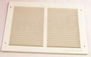 Passive Ventilation Grilles -  Airflow Mv1208 12 Inch X8 Inch P/steel Grille Wh