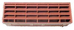 Passive Ventilation Grilles -  Airflow 920 9 Inch X 3 Inch Airbrick Terracotta