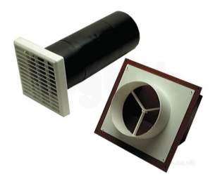 Passive Ventilation Grilles -  Airflow Db5t 5 Inch Circ Through Wall Vent