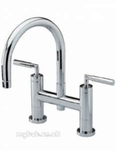 Eastbrook Brassware -  4.1191 Helix Lever Handles Pair Chrome
