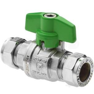 Yorkshire Lever Check and Appliance Valves -  Kuterlite 490t 22mm T-handle Ball Valve