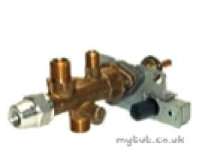 Cannon Boiler Spares -  Cannon 21933 Gas Tap And Piezo Tesa 882