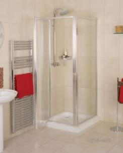 Roman Shower Enclosures -  Roman 735-785 Jupiter Pivot Door Wht