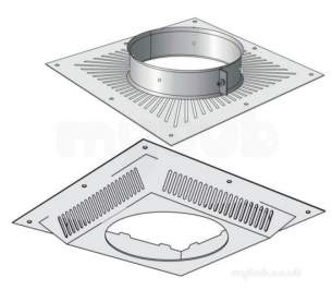Concrete and Clay Chimney Products -  Sfl S/s Vent Ceiling Support New 7072713