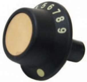 Indesit Domestic Spares -  Hotpoint 20469 Oven Knob Black-gold