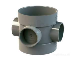 Wavin Certus Products -  110mm D.sw Short Bossed Pipe 4cs588e