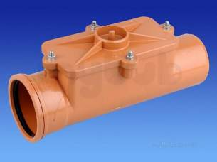 Hepworth Plastidrain -  110mm Straight Access Pipe 4a13a