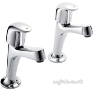 Pegler Luxury Bathroom Brassware -  Haze 464009 1/2 High Neck Sink Tap Pair