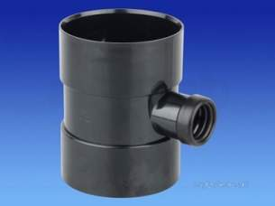 Osma Above Ground Drainage -  4s583b Black Osma 4 Inch 32mm Singlee Solv Boss