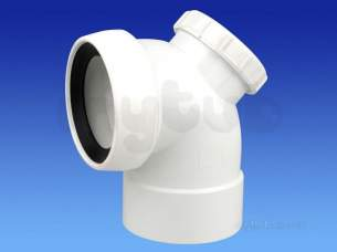 Wavin Certus Products -  110mm Sw/s Acc Wc Conn 90 Cwc762w