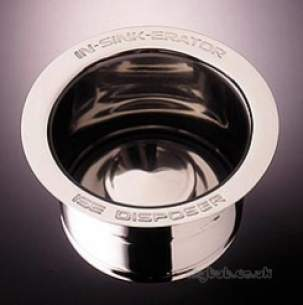 In Sink Erator Waste Disposal Products -  Insinkerator 10082 Stainless Steel 90mm Extended Sink Flange For Thicker Sinks