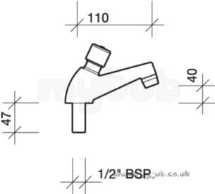 Twyfords Commercial Brassware -  Twyford Sf2101 Sola 1/2 Non Conc Tap Sing Chrome Plated Obsolete Sf2101cp