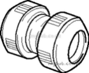 Hep2O Pipe and Fittings -  Hep20 10mm D/f Straight Connector Hd1