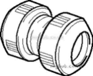 Hep2O Pipe and Fittings -  Hep20 15mm D/f Straight Connector Hd1