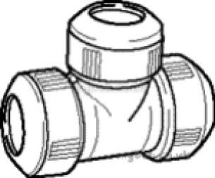 Hep2O Pipe and Fittings -  Hepworth Building Hep20 28mm D/f Equal Tee Hd10
